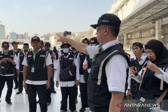Petugas haji buka delapan posko layanan jamaah di Masjidil Haram