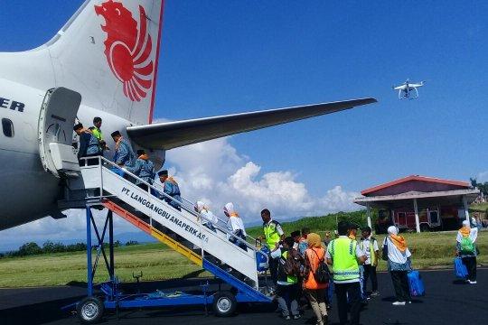 Kloter terakhir calhaj Malut diberangkatkan ke Embarkasi Makassar
