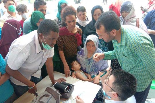 Puluhan pengungsi suaka di Kalideres dapat pengobatan gratis