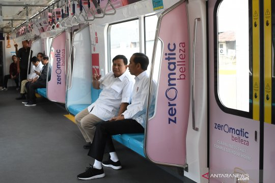 Rekonsiliasi Jokowi-Prabowo di MRT menjadi sejarah