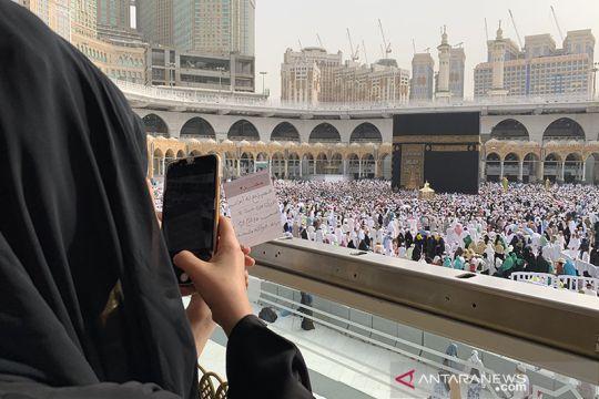 Suasana Masjidil Haram usai shalat Jumat