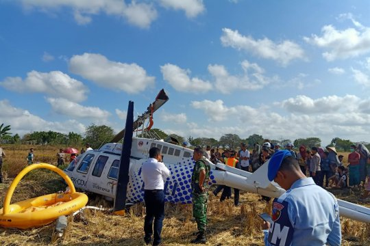 Penyebab jatuhnya helikopter di Lombok tunggu investigasi KNKT