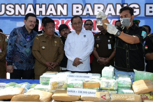 BNN musnahkan ratusan kilogram narkoba di Aceh