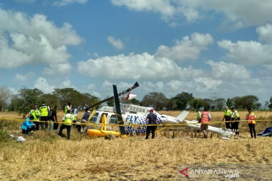 KNKT mulai investigasi bangkai helikopter jatuh di Lombok