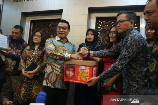Moeldoko: Visi Jokowi juga cakup pemberantasan korupsi dan HAM