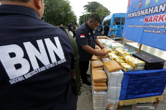 Pemusnahan narkoba tangkapan BNN