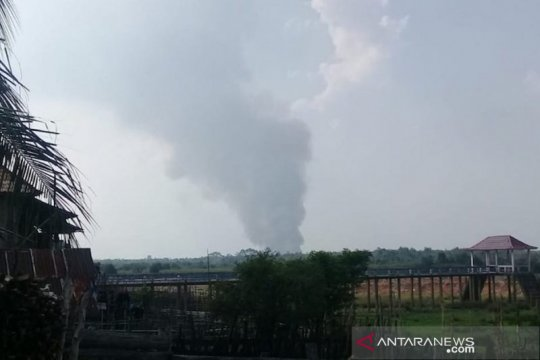 Kebakaran lahan gambut di PALI hanguskan dua hektare