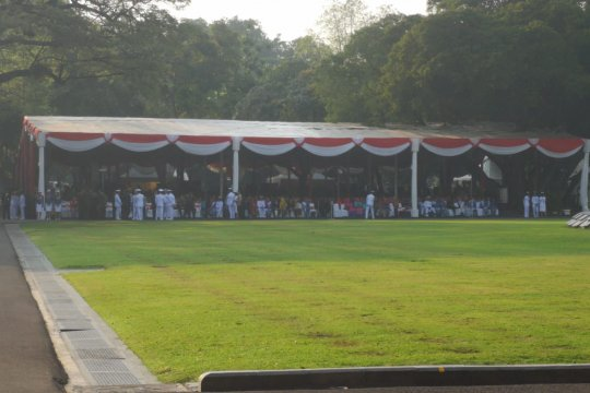 Giat Prasetya Perwira TNI-Polri di Istana, polisi rekayasa lalu lintas