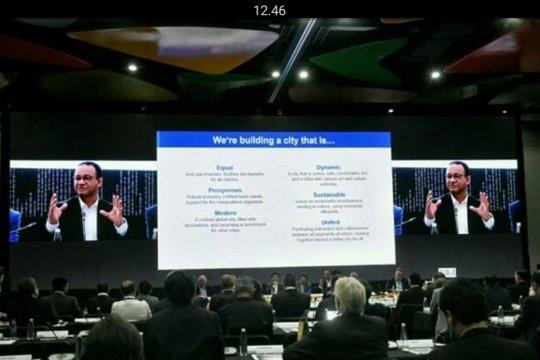 Anies menjadi pembicara di World City Summit di Medellin