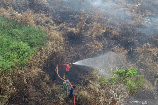Titik kebakaran lahan di Aceh Barat semakin bertambah akibat kemarau