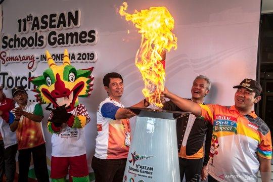 Api ASG 2019 tiba di Semarang