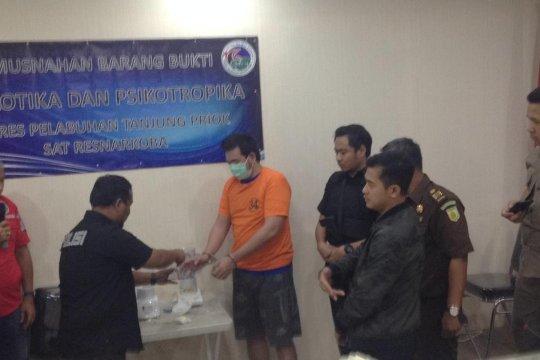Polres Pelabuhan Tanjung Priok musnahkan 1,5 kilogam sabu-sabu