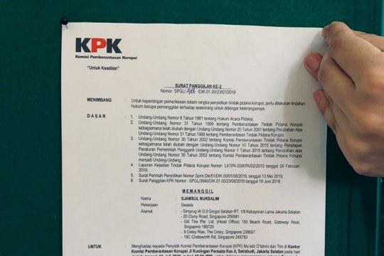 KPK tempel surat panggilan Sjamsul Nursalim di KBRI Singapura