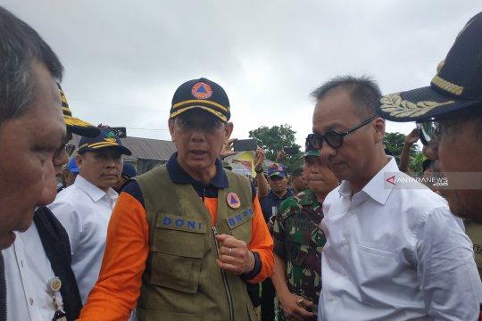 Mensos dan Kepala BNPB kunjungi lokasi gempa Halmahera Selatan