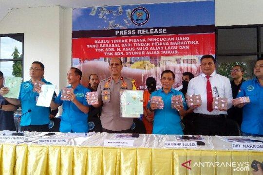 BNN ungkap TPPU narkoba Sulsel Rp16 miliar