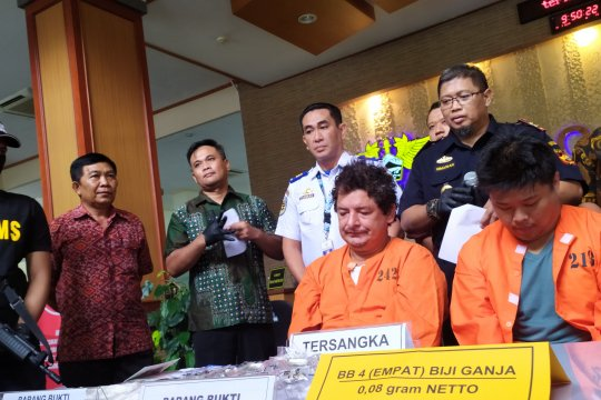 Tersangka asal Lampung ditangkap dapat kiriman ganja Jerman