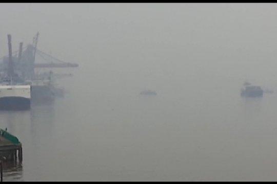 Polisi: jarak pandang di jalan mulai pendek dampak kabut asap