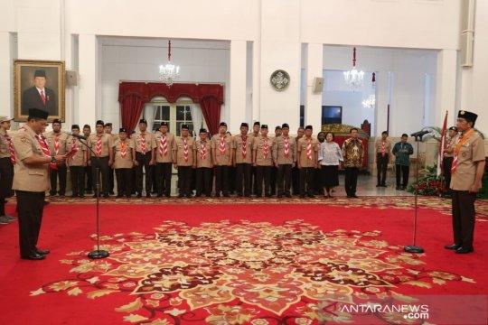 Presiden Jokowi lepas Pramuka Indonesia ke Jambore Kepanduan Dunia