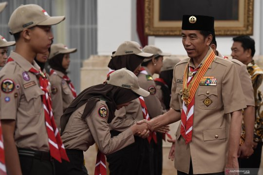 Presiden lepas Kontingen Gerakan Pramuka Indonesia