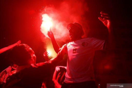 Pesta pendukung Aljazair usai juara Piala Afrika 2019