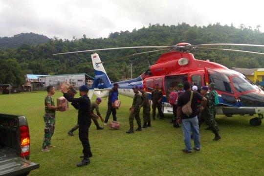 Tim gabungan salurkan bantuan logistik ke pelosok Halsel