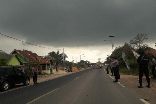 Polisi jaga perbatasan Lampung-Sumatera Selatan