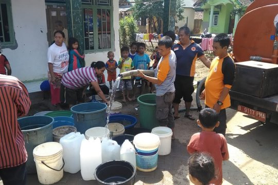 BPBD Lebak terus salurkan air atasi krisis air bersih selama kemarau