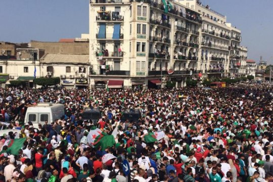 Timnas Aljazair pulang disambut bak pahlawan