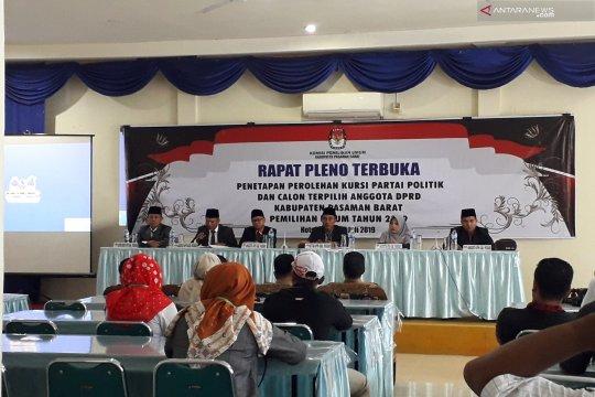 KPU Pasaman Barat tetapkan 40 calon terpilih anggota DPRD