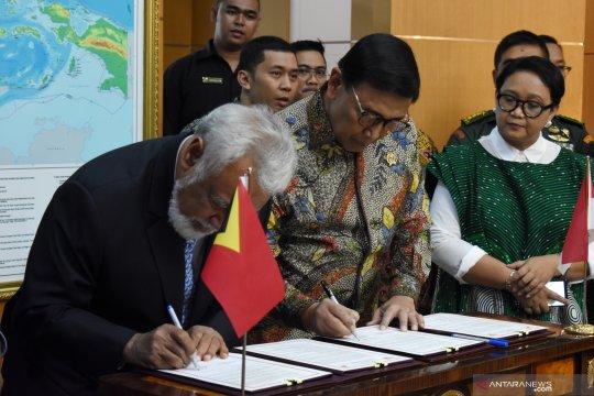 Wiranto-Xanana tandatangani kesepakatan selesainya perbatasan darat
