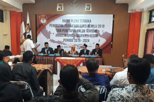 KPU Kabupaten Kediri tetapkan perolehan kursi anggota DPRD