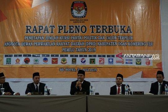 KPU OKU gelar pleno penetapan jumlah kursi anggota DPRD terpilih