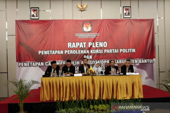 KPU Bantul tetapkan perolehan kursi parpol dan calon terpilih DPRD