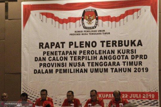 KPU gelar pleno penetapan kursi dan caleg terpilih DPRD NTT