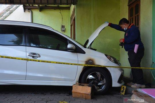 Olah TKP bom molotov di Jombang