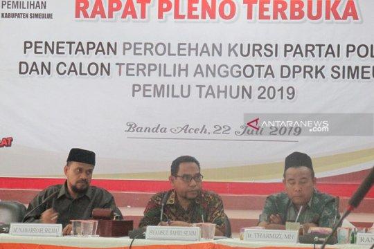 KIP Aceh tetapkan calon anggota DPRK Simeulue terpilih