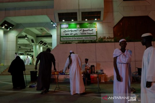 Berniat umrah di batas tanah halal Masjid Aisha