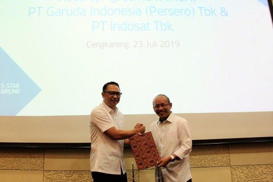Garuda Indonesia-Indosat sinergi optimalisasi transformasi digital