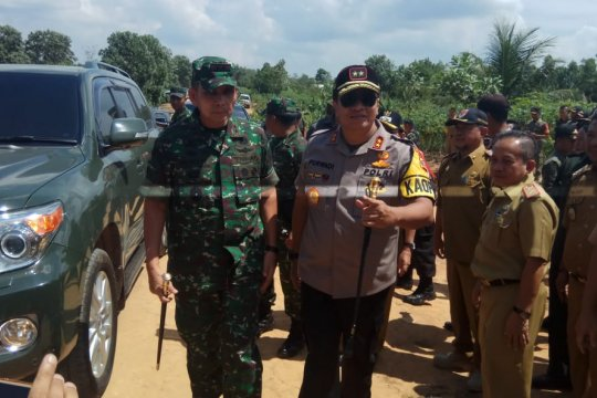 Pangdam Sriwijaya kunjungi lokasi bentrok Register 45 Mesuji Lampung