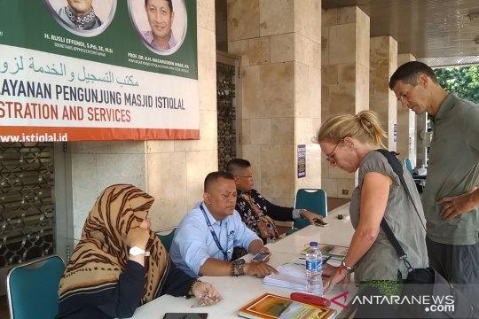 Kunjungan wisman ke Masjid Istiqlal capai 300 orang per hari