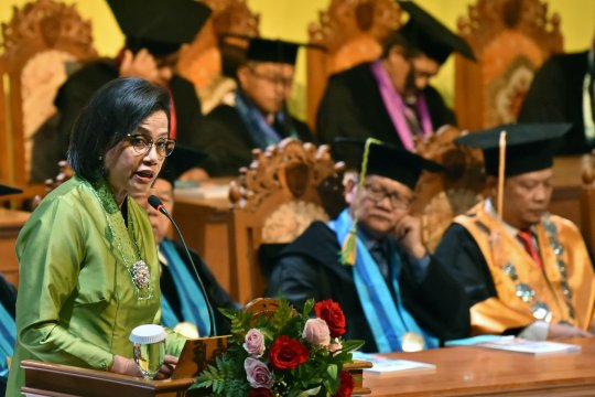 Orasi ilmiah Menteri Keuangan Sri Mulyani