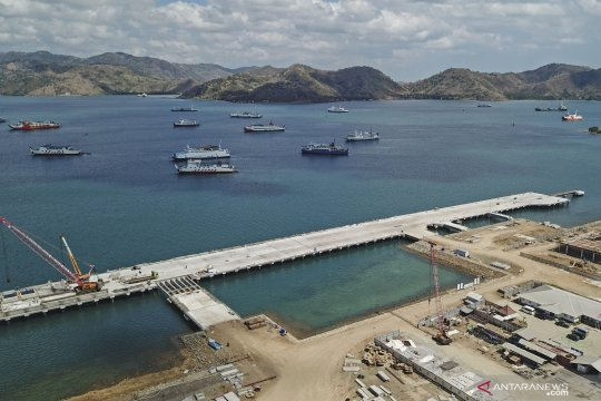 Progres pembangunan Pelabuhan Gili Mas