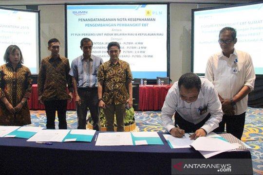 PLN Riau-Kepri teken PJBL berbasis energi baru terbarukan 18,4 MW