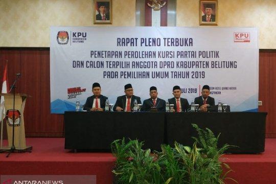 KPU Kabupaten Belitung tetapkan 25 caleg terpilih