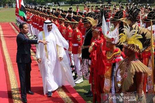 Pasukan berpakaian adat nusantara kawal kunjungan kenegaraan Putra Mahkota Abu Dhabi