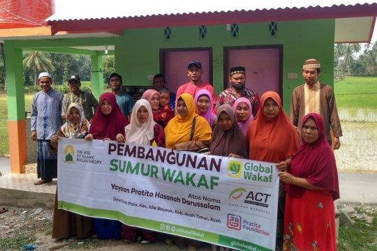 Global Wakaf-ACT buatkan sumur untuk warga di Aceh Timur