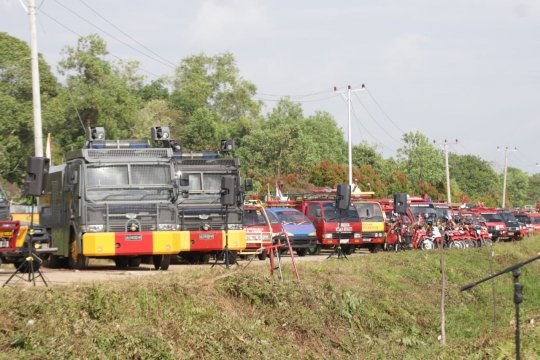 Polda Kalbar gelar apel Operasi Bina Karuna Kapuas 2019