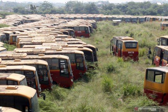 Melihat 'kuburan' bus Transjakarta di Dramaga Bogor