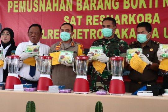 Polres Metro Jakarta Utara musnahkan 16 kilogram sabu