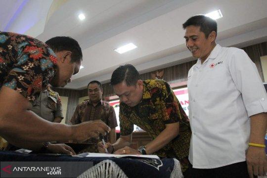 Satpam se-Sulsel sumbang darah bantu PMI Makassar
